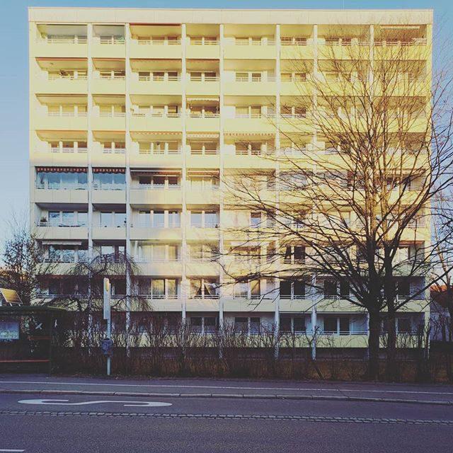 Hochhaus in der Bahnhofstraße bei der Hochschule Kempten.