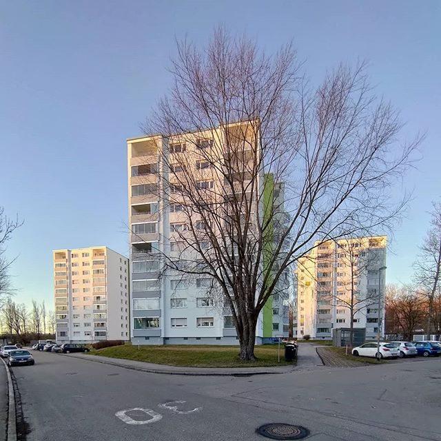 Hochhäuser im Augartenweg. - ursulasried, hochhäuser