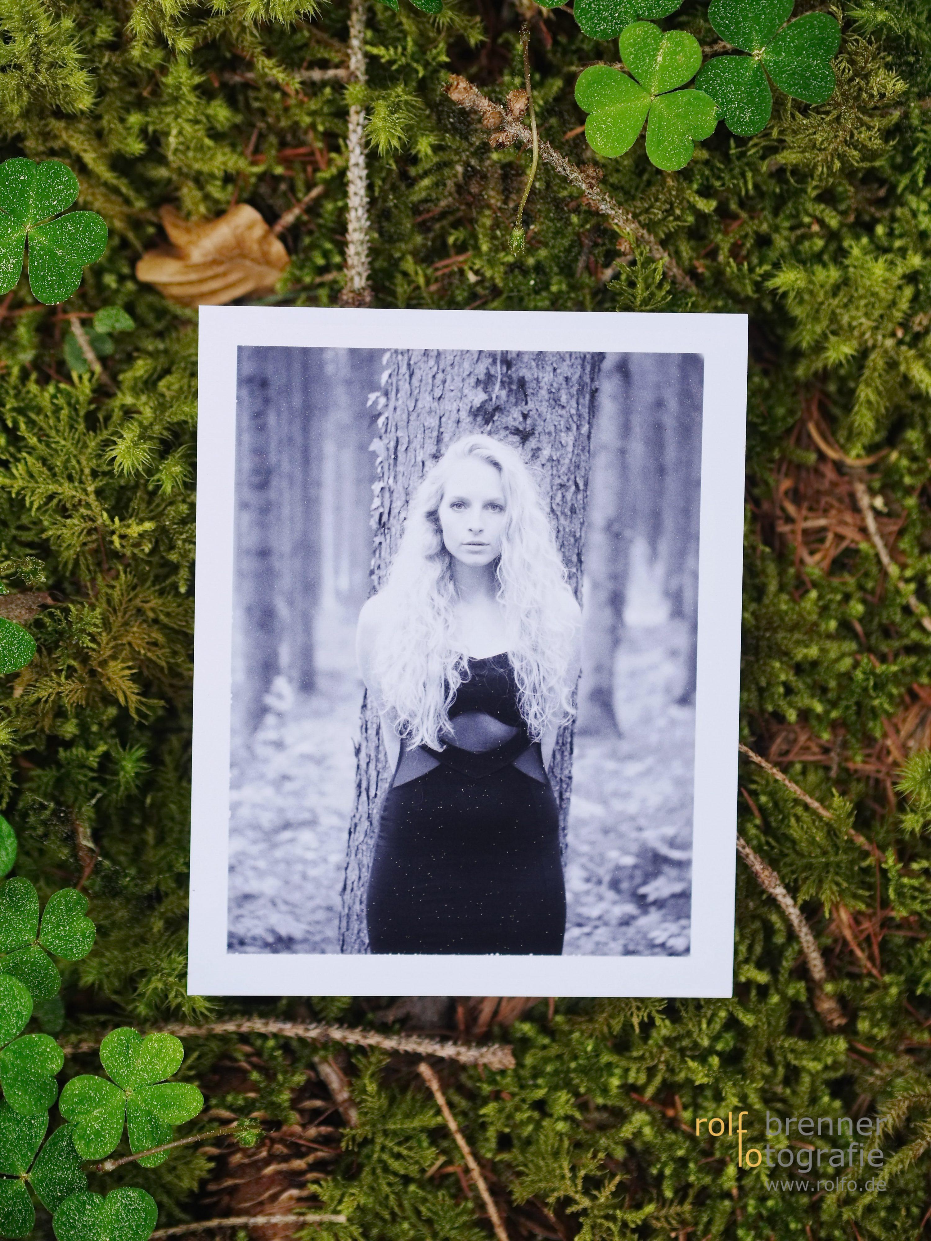 SW 655 Polaroid Portrait im Wald
