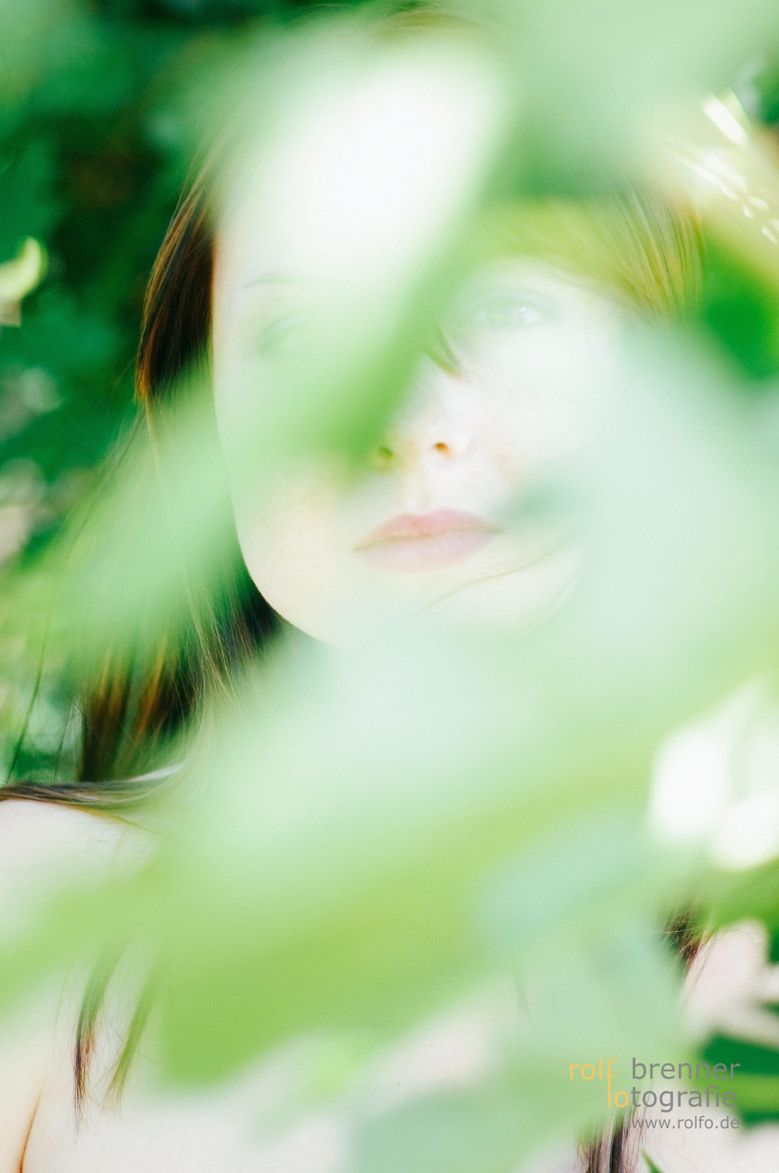 Blätter Portrait