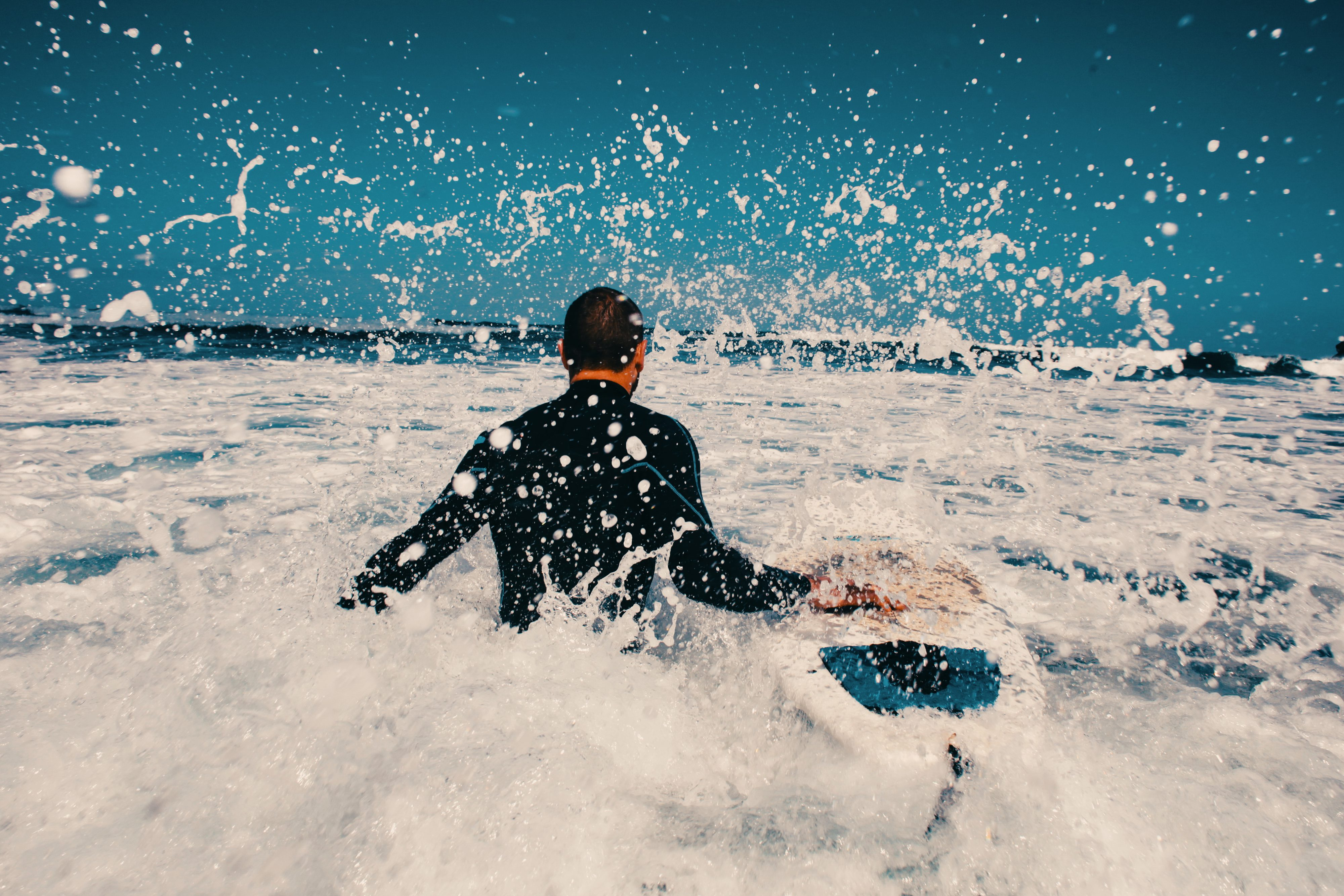 Surfer Shooting in Teneriffa für Corbis