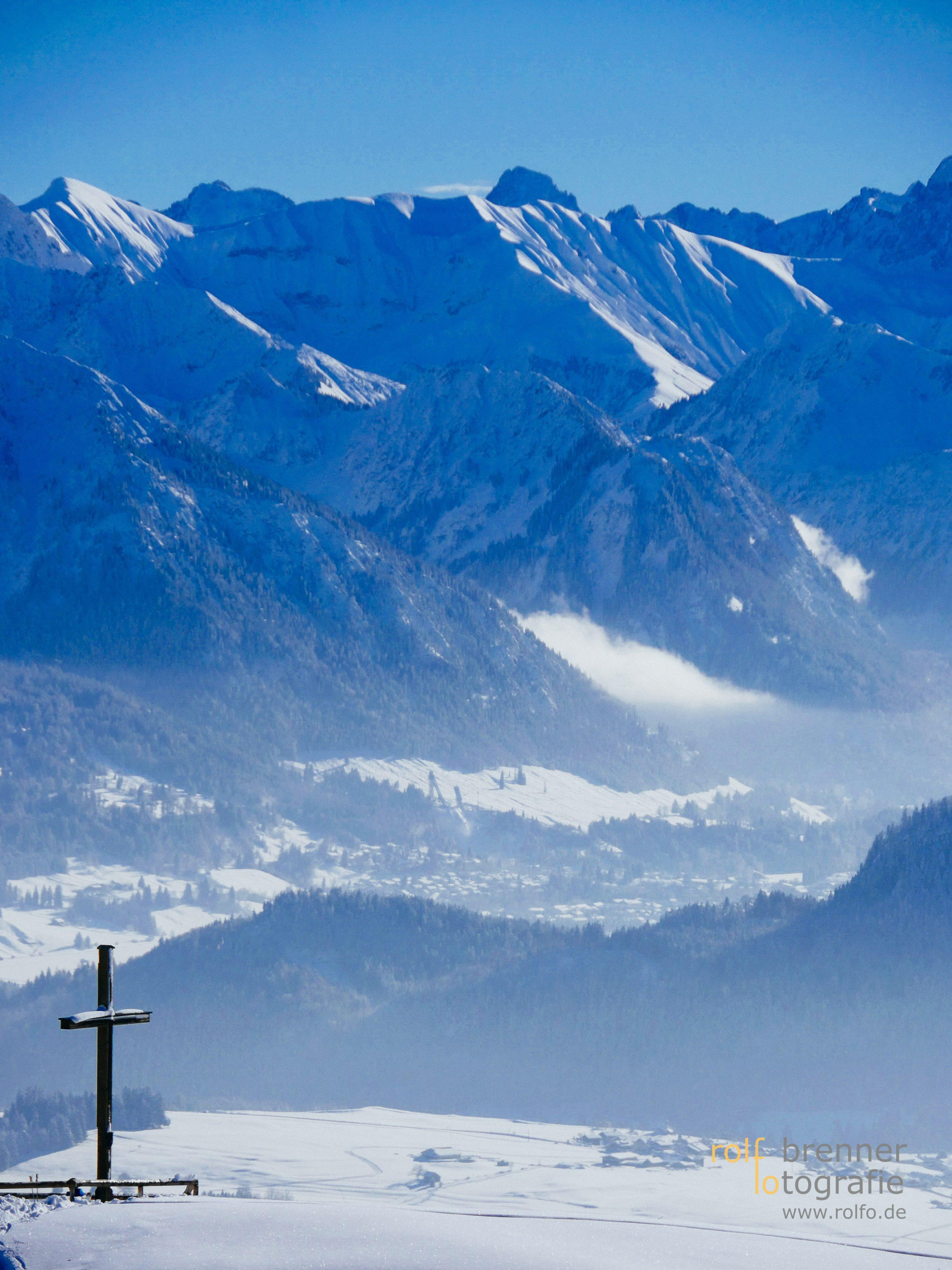 Die Allgäuer Alpen im Winter