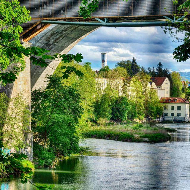 Brücke über die Iller.