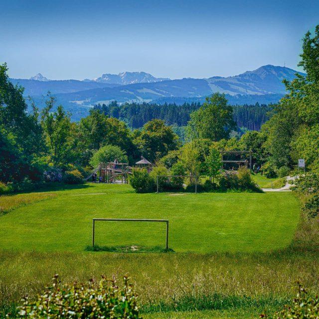 Schöne Aussicht im Hoefelmayrpark. - kempten, hoefelmayrpark, alpen, allgäu, aussicht