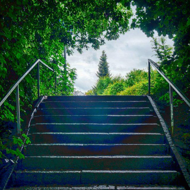 Treppe bei der Lessingstraße.