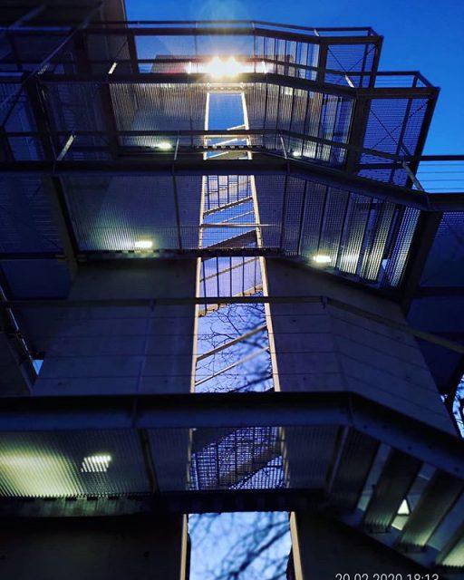 Treppe an der Hochschule Kempten.