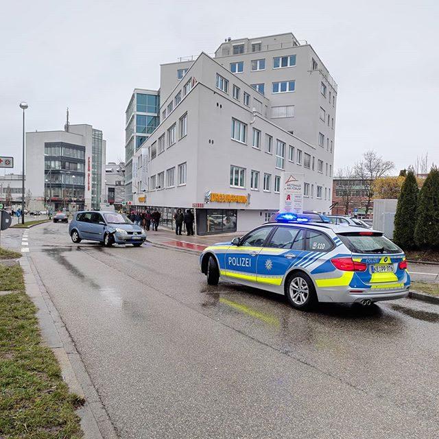 Unfall in der Bahnhofstraße.