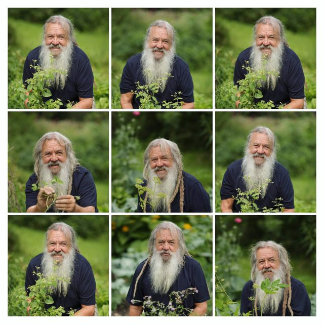 Shooting mit Wolf-Dieter Storl in seinem Garten.