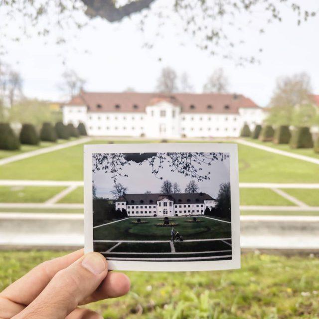 Polaroid vom Hofgarten Kempten.