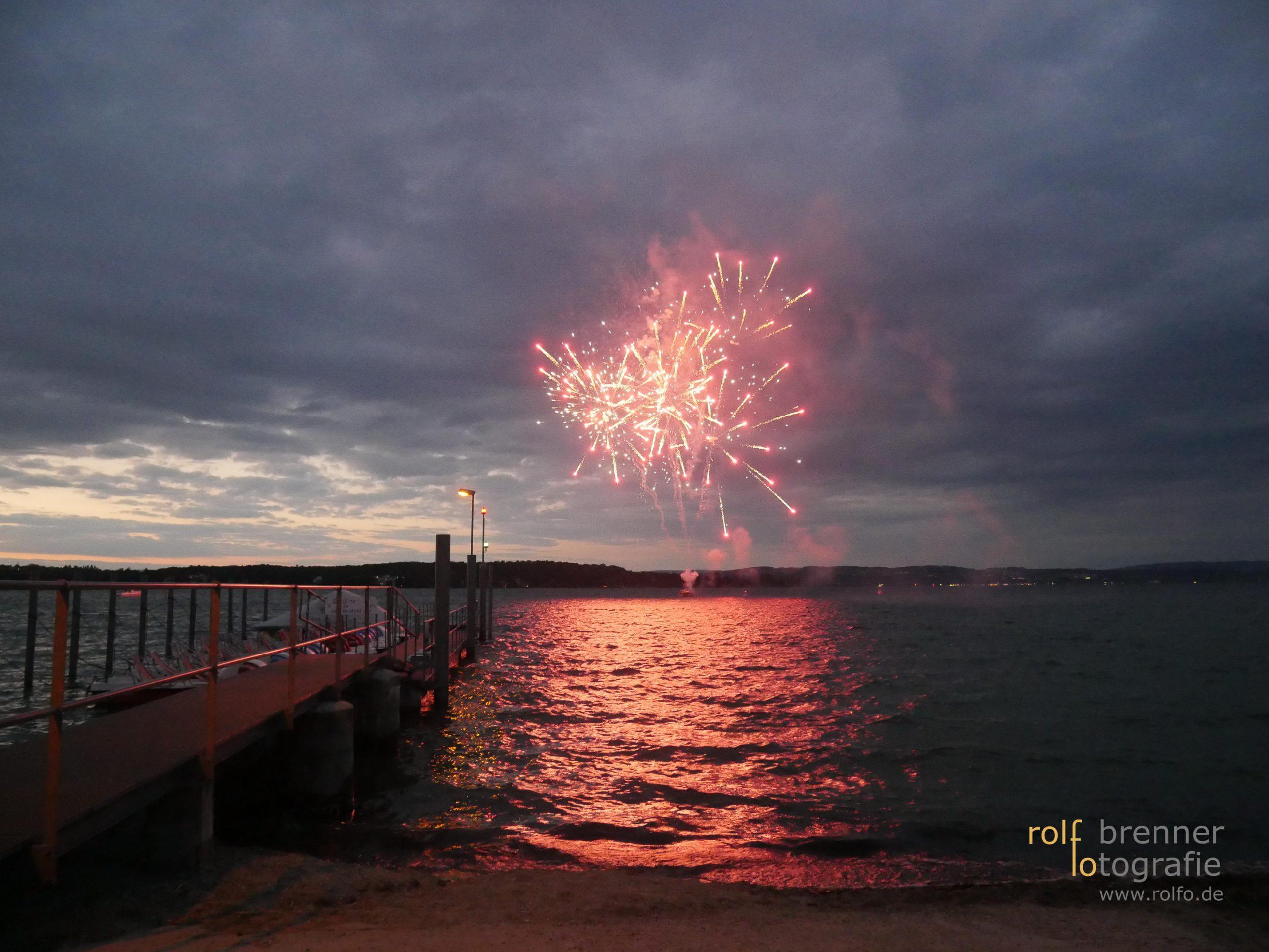 Feuerwerk über dem Bodensee