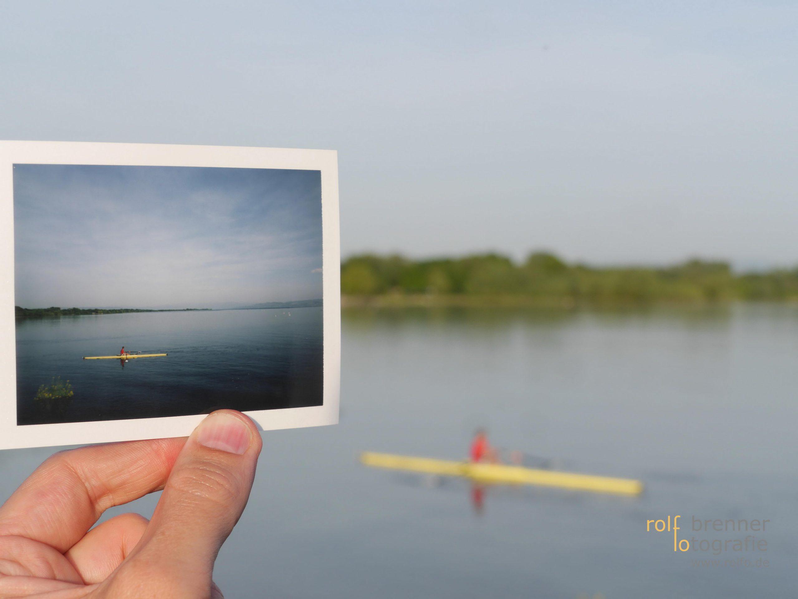 Kanu fahrt auf dem Bodensee