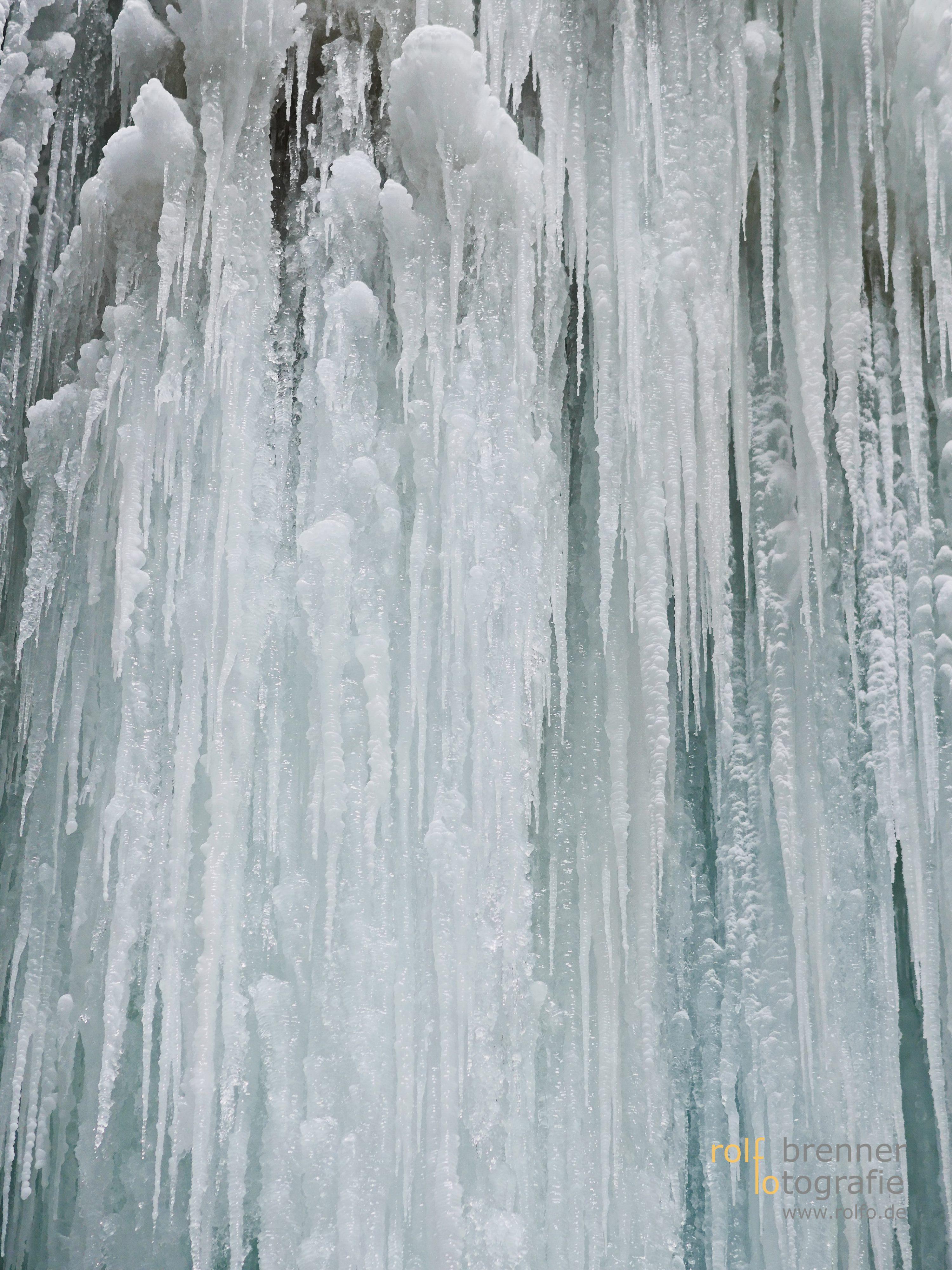 Eiszapfen in der Breitachklamm