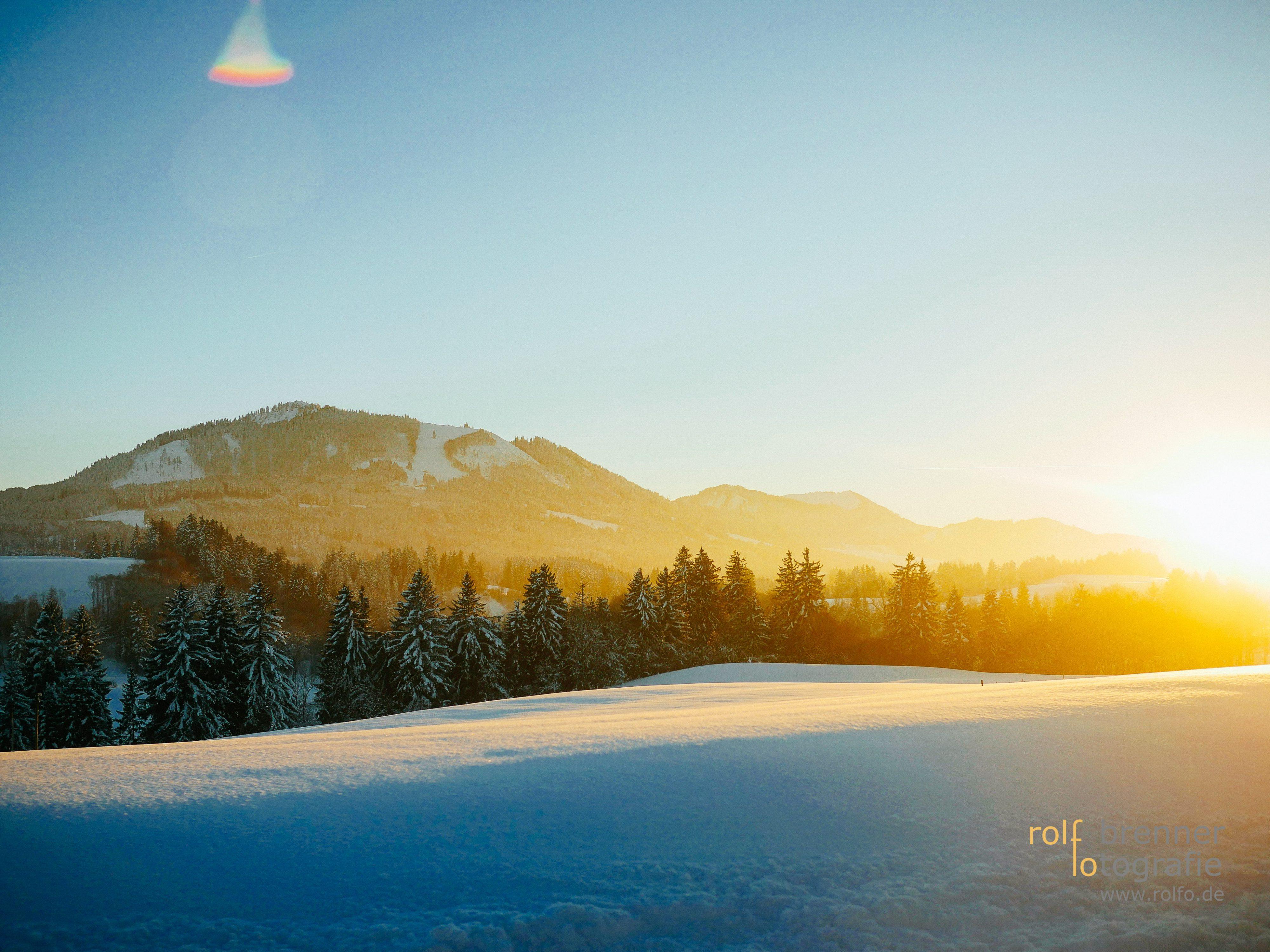 Wintersonne bei Ofterschwang