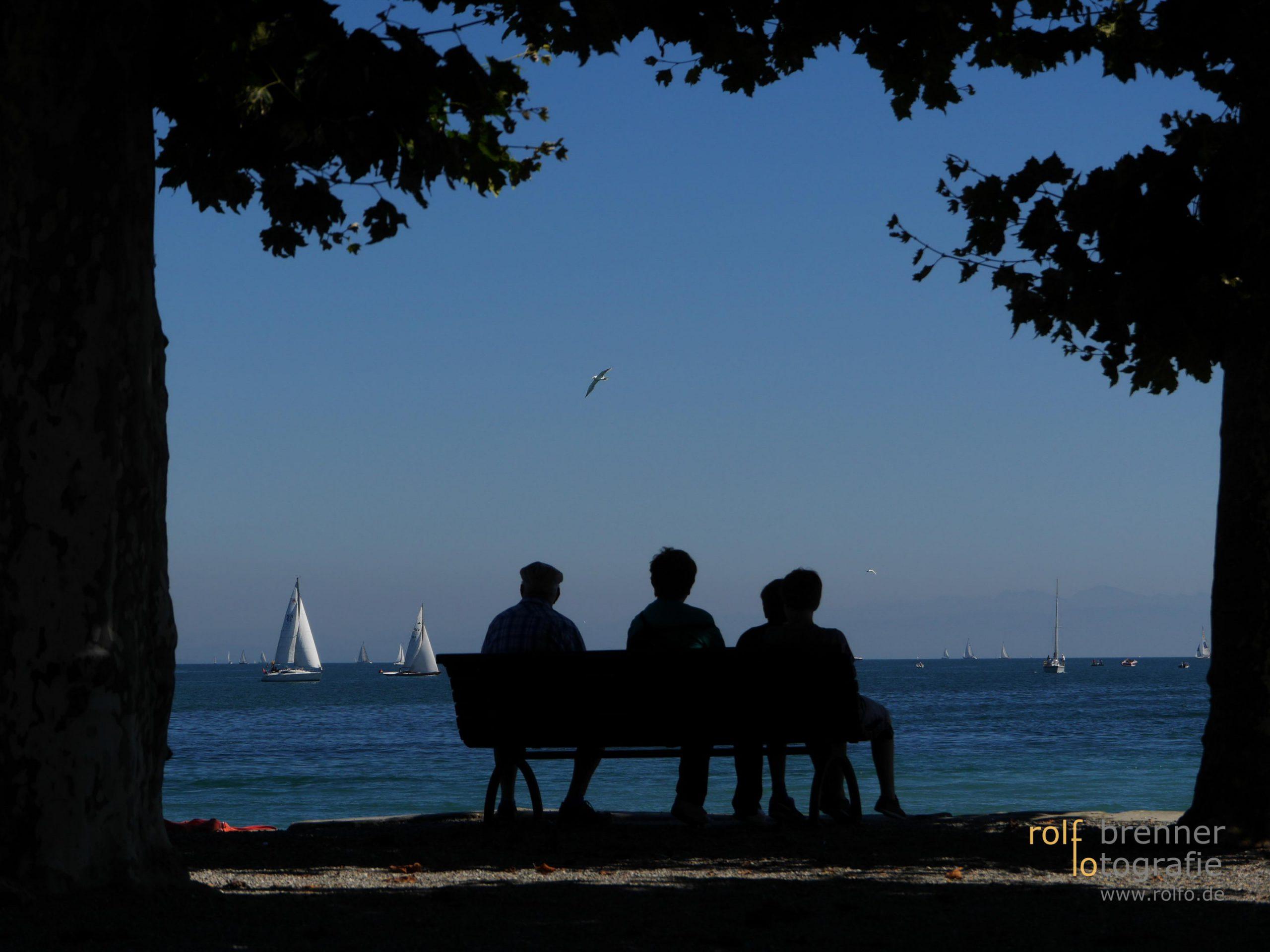 Freie Sicht auf den See in Konstanz