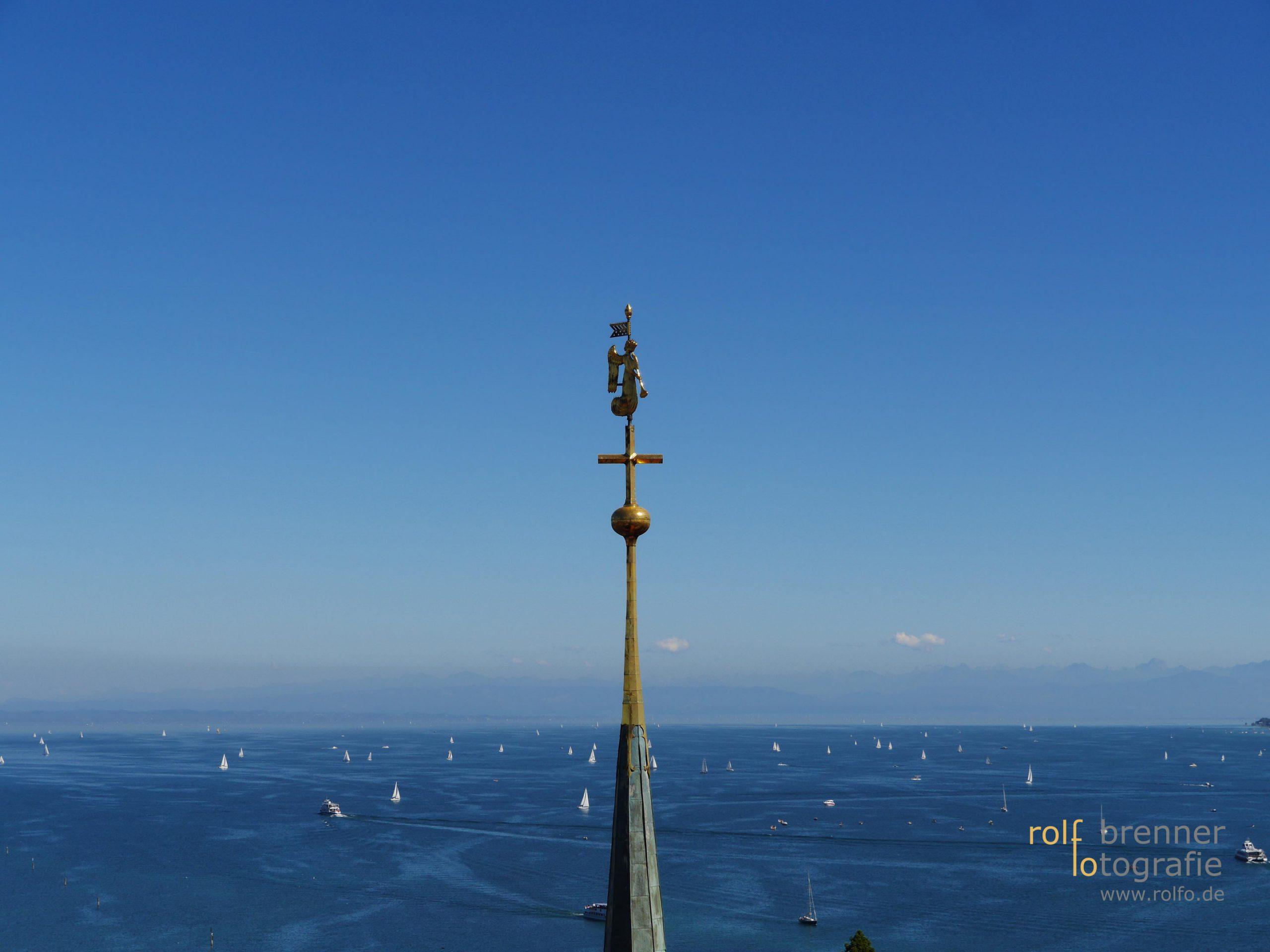 Blick von Konstanz über den Bodensee